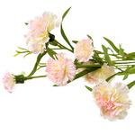 """Букет """"Гвоздика"""" 70см, цветки из ткани, бело-розовый"""