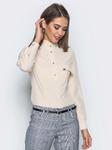 Повседневная блузка приталенного силуэта, размеры 42-50