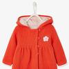 Baby девочек с капюшоном кардиган: - оранжевый яркий сплошной