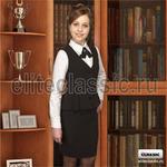 """Жилет чёрный """"Клара"""" р-р 44/164"""