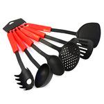 Кухонный набор для тефлоновой посуды пластмассовый 6 предметов, цветные ручки