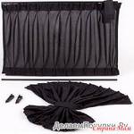 Автомобильные шторки черные (комплект на 2 окошка)