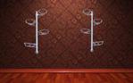 Настенная подставка на 4 горшка Жасмин со съемными держателями