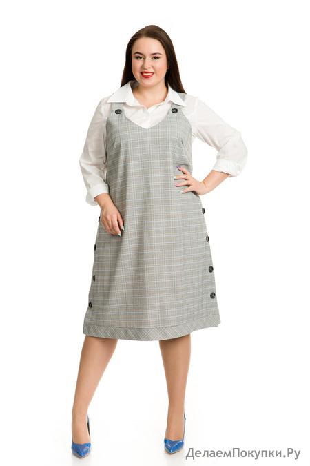 2de010547fc1 Эффектный сарафан из костюмной ткани
