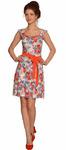 1425 Платье Цветы на светлом фоне