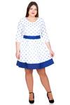 Платье БР Лен втачной пояс с окантовкой