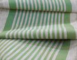 Дорожка льняная в  узкую зеленую полоску лен 100%