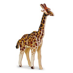 Пазл деревянный 3D. Жираф. Серия Мини-животные. Размер 11,5х18,5 см. ГЕОДОМ