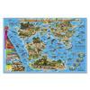 Карта Мира настольная. Динозавры. Юрский период. 58х38 см. ЛАМ ГЕОДОМ