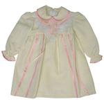 Платье для девочки a-09-15113210-18(22)-бежевый/розовый