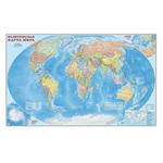 Карта настенная. Мир политический. М1:11,5 млн. 230х150 см. на картоне. ЛАМ ГЕОДОМ