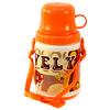 """Бутылка питьевая пластмассовая """"Оранж"""", 0,4л, д8,5см h18см, герметичная крышка, с кружкой, съемный ремешок"""