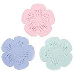 Фильтр-сетка для раковины/ванной в виде цветочка, силикон, d15см, 3 цвета 411-018