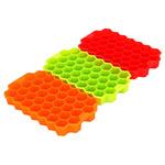 """Форма силиконовая для льда """"Соты"""", 20х12см, 37 ячеек, 3 цвета 891-294"""