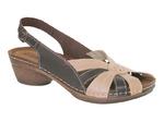 Inblu | Арт. NE12Z8 - Туфли женские | Натуральный-т/коричневый
