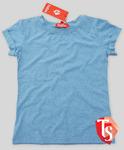 Футболка для девочки, голубой меланж