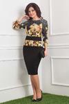 Комплект женский, состоящий из блузона и юбки.