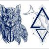 Термотрансфер Акула и Волк (синие) 25х35см