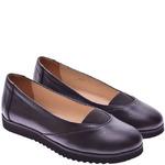 Подростковые кожаные туфли на танкетке