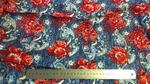 ткань вискоза под джинс с красными цветами (за 0,5 м)