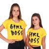 "Футболка ""Girl Boss"" (жёл) ОО"