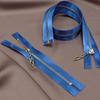 МОЛНИЯ сатин Т3 металл 70см т.голубой 2