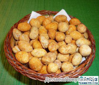 Арахис в хрустящей корочке сёмга и сыр