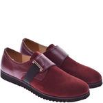 Подростковые замшевые туфли с пряжкой
