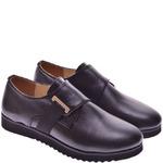 Подростковые кожаные туфли с пряжкой