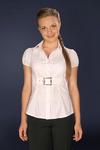 Блузка ремень белая