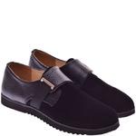 Подростковые комбинированные туфли с пряжкой