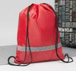 Мешок для обуви со светоотражающей полосой красный 3295968