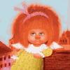 RDG-3025 Рыжий ангелок на крыше / картина 40х50