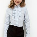 Блузка детская для девочек Calendula голубой