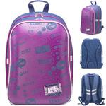 Рюкзак школьный ANIMAL PLANET, разм. 40х29х16см, анат. рельеф.спинка,светоот.элем.,син.джинса, д/дев