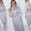 Яркое стильное платье свободного кроя  48-58