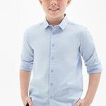 Сорочка верхняя детская для мальчиков Imbat голубой