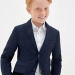 Пиджак детский для мальчиков Curvature темно-голубой