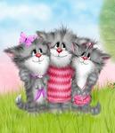 """РН GX24647 """"Три счастливых кота"""", 40х50 см"""