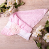 Косынка с козырьком, с выбитыми цветочками, Цветок, розовая
