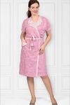 Пеньюар с сорочкой, двойного крашения, розовый (419-2)