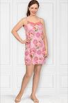 Сорочка вискозная на бретелях, розовый (438-2)