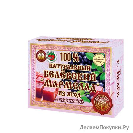 Натуральный мармелад с черникой 230 грамм