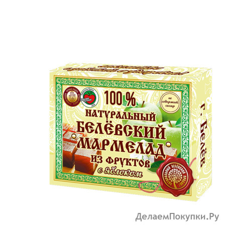 Натуральный мармелад с яблоком 230 грамм