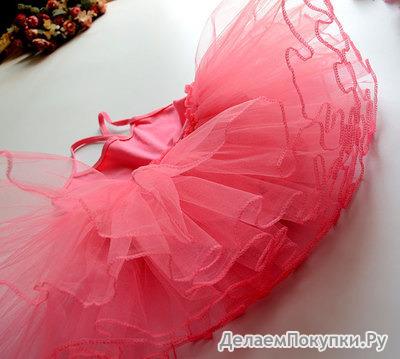 Танцевальное платье на девочку с пачкой