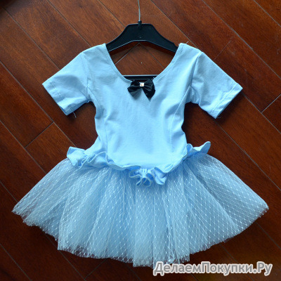 Детское платье для гимнастики с пачкой