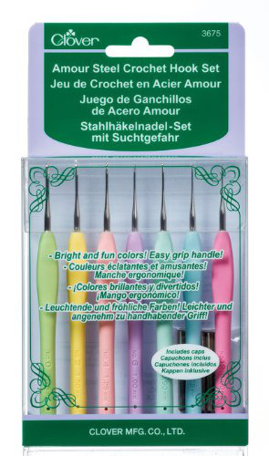 Clover 3675 Amour Steel Crochet Hook Set