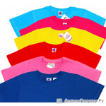 5900 футболка однотонная 5-9 ЛЕТ  т. синяя