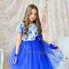 Платье нарядное для девочки арт. ИР-1618, цвет гжель