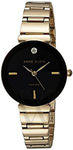 Anne Klein 2434BKGB Women's Diamond Alloy Black Dial